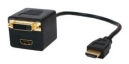 Cable Splitter HDMI to HDMI + DVI-D Gold Plated