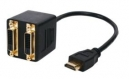 Cable Splitter HDMI to 2x DVI-D Gold Plated