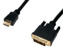 HDMI to DVI Connection Cable GOLD 2.5m